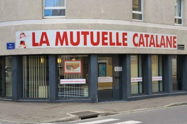 Vitrine de la Mutuelle Catalane dans le quartier Gare de Perpignan (credits photos : EDV-Stéphane Delchambre)